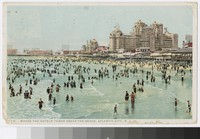 Hotels and beach, Atlantic City, New Jersey, 1915-1917