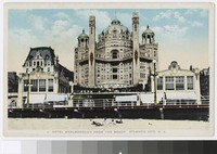 Hotel Marlborough from the beach, Atlantic City, New Jersey, 1915-1930