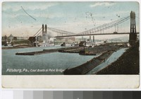 Coal boats at Point Bridge, Pittsburgh, Pennsylvania, 1901-1905