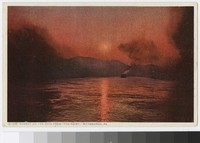 "Sunset on the Ohio from ""The Point,"" Pittsburgh, Pennsylvania, 1907-1911"