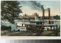 View on Ohio River, Western Penitentiary in background, Pittsburgh, Pennsylvania, 1907-1914
