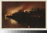 Iron mills at night, Pittsburgh, Pennsylvania, 1907-1914