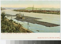 Coal fleets on the Ohio River, Pittsburgh, Pennsylvania, 1901-1907