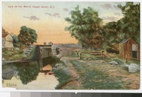 Lock on the Morris Canal, Dover, New Jersey, 1907-1908