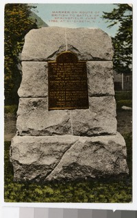 Marker on route of British to Battle of Springfield, Elizabeth, New Jersey, 1907-1914