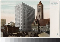 Frick Building and Allegheny County Courthouse, Pittsburgh, Pennsylvania, 1907-1914
