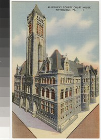 Allegheny County Courthouse, Pittsburgh, Pennsylvania, 1930-1944