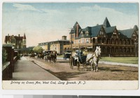 Coaches and carriages on Ocean Avenue, Long Branch, New Jersey, 1901-1907