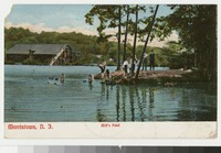 Mill's Pond, Morristown, New Jersey, 1907-1908