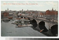Albany Street Bridge and boat house, New Brunswick, New Jersey, 1901-1907