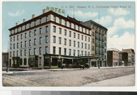 Continental Hotel on Broad Street, Newark, New Jersey, 1907-1914