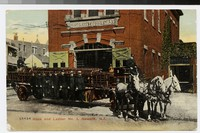 Fire station and fire fighters, Newark, New Jersey, 1907-1913