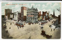 Market and Broad Streets, Newark, New Jersey, 1907-1909