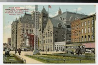 Broad Street south from Military Park, showing Post Office and Prudential Buildings, Newark, New Jersey, 1907-1911