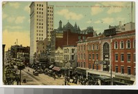 Market Street west from Mulberry Street, Newark, New Jersey, 1907-1912