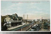 Lehigh Valley railroad station and yards, Sayre, Pennsylvania, 1907-1914