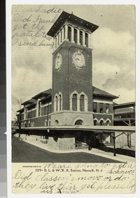 Delaware, Lackawanna and Western Railroad Company Station, Newark, New Jersey, 1901-1906