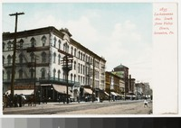 Lackawanna Avenue south from Valley House Hotel, Scranton, Pennsylvania, 1901-1907