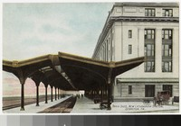 Train station platform, new Lackawanna Station, Scranton, Pennsylvania, 1907-1914
