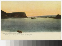 View up the Susquehanna River, Sunbury, Pennsylvania, 1907-1914