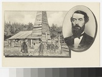 Original Drake Oil Well and portrait of Colonel Drake, Titusville, Pennsylvania, 1907-1914
