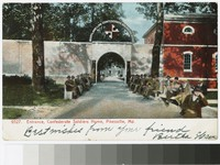 Entrance, Confederate Soldier's Home, Pikesville, Maryland, circa 1901