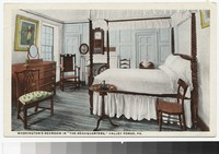 "Washington's bedroom in ""the headquarters,"" Valley Forge, Pennsylvania, 1915-1930"