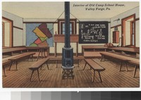 Interior of Old Camp School House, Valley Forge, Pennsylvania, 1931-1945