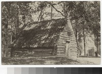 Huts of Washington's soldiers, Valley Forge, Pennsylvania, 1901-1907