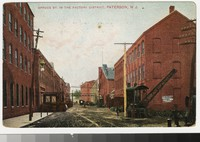 Spruce Street in the factory district, Paterson, New Jersey, 1907-1910