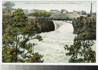 Passaic Falls during Great Flood of 1904, Paterson, New Jersey, 1907-1914