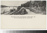 Susquehanna River and commons, Wilkes-Barre, Pennsylvania, 1901-1907