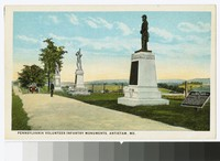 Pennsylvania volunteer infantry monuments, Antietam Battlefield, Sharpsburg, Maryland, circa 1915-1930