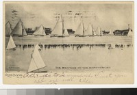 Ice boating on the Shrewsbury River, Red Bank, New Jersey, 1901-1905