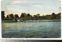 Residences along the Shrewsbury River, Red Bank, New Jersey, 1907-1912