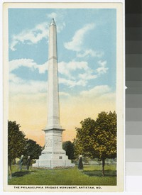 Philadelphia Brigade Monument, Antietam Battlefield, Sharpsburg, Maryland, circa 1915-1930