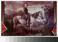 Painting of General Robert E. Lee on his horse, circa 1961-1990
