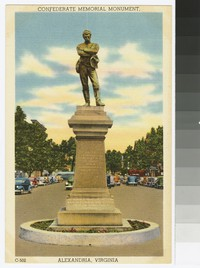 Confederate Memorial Monument, Alexandria, Virginia, circa 1930-1944
