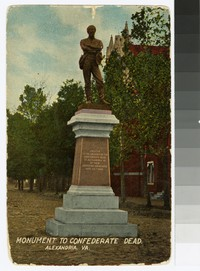 Monument to Confederate dead, Alexandria, Virginia, circa 1907-1911