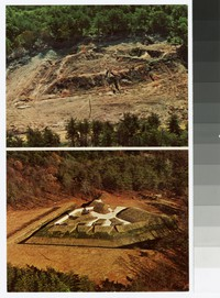 Aerial views of Fort Ward before and after restoration, Alexandria, Virginia, circa 1941-1980