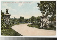 Boathouse gate, Duke's Park, Somerville, New Jersey, 1907-1910