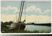 River and sailboat, South River, New Jersey, 1907-1914