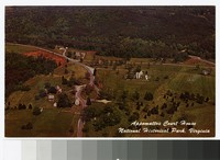 Aerial view of Appomattox Court House National Historical Park, Virginia, circa 1951-1963