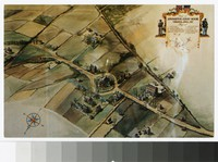 Painting of Appomattox Court House as it appeared in 1865, Appomattox, Virginia, circa 1961-1980