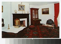 Parlor of the reconstructed McLean House, Appomattox Court House National Historical Park, Appomattox, Virginia, circa 1951-1970