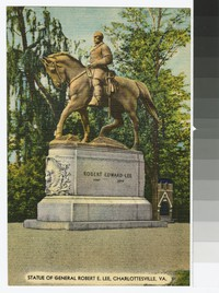 Monument to General Robert E. Lee, Charlottesville, Virginia, circa 1930-1944