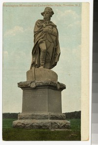 Washington Monument at Cadwalader Park, Trenton, New Jersey, 1907-1914