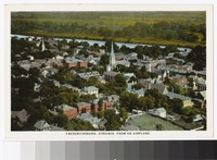 Aerial view of Fredericksburg, Virginia, circa 1915-1930