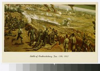 Artist's depiction of the Battle of Fredericksburg, Virginia, circa 1941-1970
