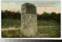 Tablet where Washington crossed Delaware River in 1776, Washington's Crossing, New Jersey, 1907-1914